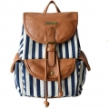 China wholesale canvas leather backpack