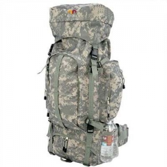 Camo Montaineers army hiking backpack or climbing bag