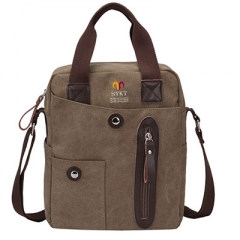 Quanzhou tote shoulder recycled canvas messenger bags wholesale