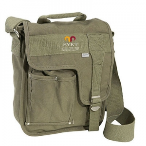 Quanzhou factory high quality leisure army canvas messenger bags for men
